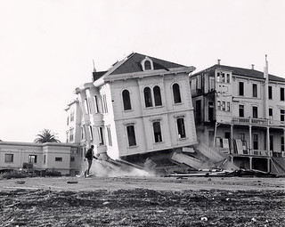 Demolition of the College of the Holy Names campus to make way for the Kaiser building, 1957 | by Holy Names University