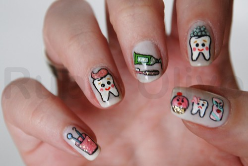 Dentista | by Rubia Olivo ~ Nail Art