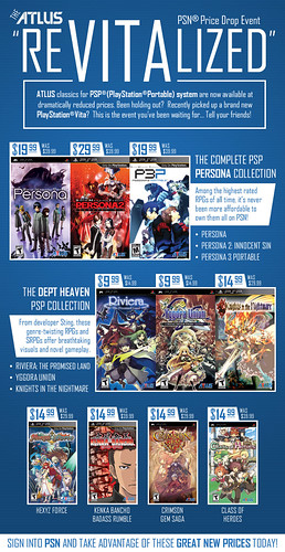 Atlus PSN PSP price drop | by PlayStation.Blog