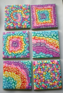 Set of 6 square Coasters - Mosaic | by klio1961