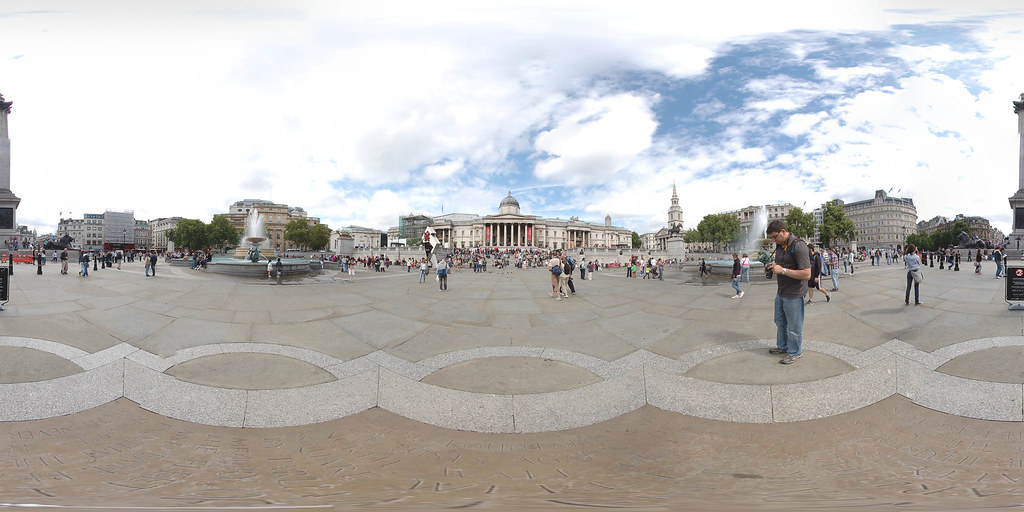 Trafalgar Square equirectangular