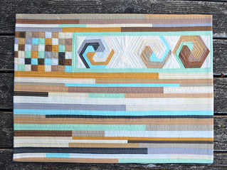 For the Love of Solids [a modern swap] - wall quilt - complete. | by shecanquilt