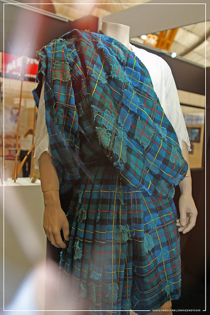 Empire BIG SCREEN : London Film Museum exhibition - The original Tartan tunic worn by Connor MacLeod (Christopher Lambert) from Russel Mulcahy's The Highlander