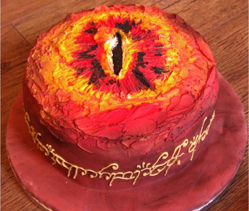 Lord of the rings cake / Sauron's eye cake 10th cake | by emzstar
