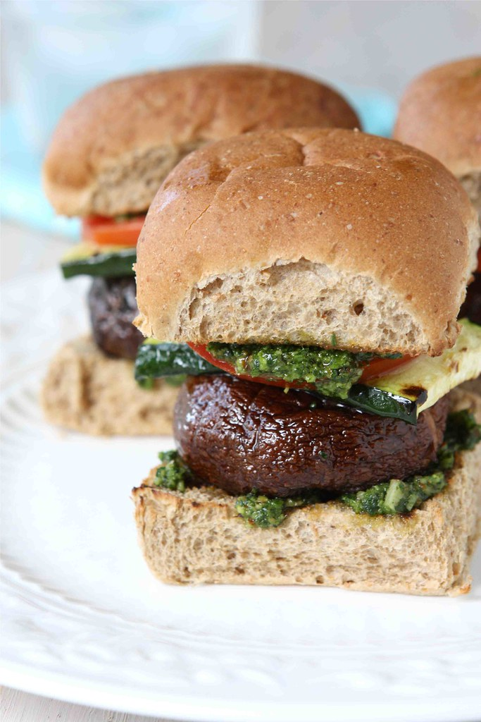 For the recipe => Grilled Mushroom Sliders with Zucchini & Cilantro ...