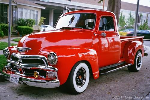 1954 Red Chevy Pick Up Truck Ga645zi Astia 100
