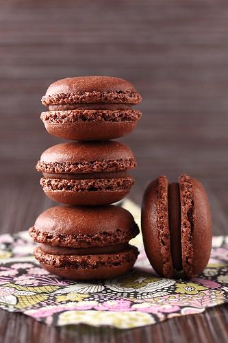 Chocolate and chestnuts macarons | Irina Kupenska | Flickr