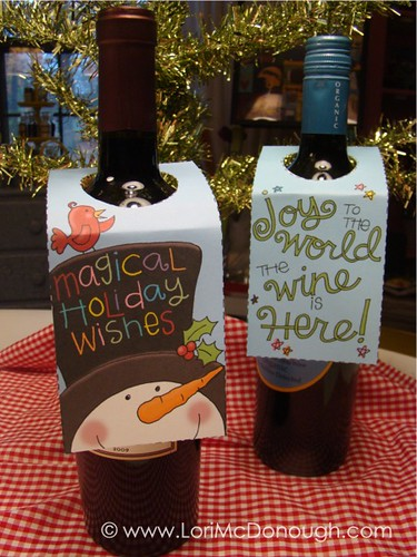 wine gift tags bottles | by Lori McDonough