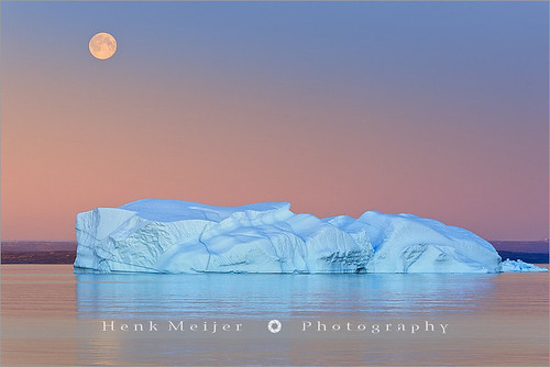 Moonrise and Icebergs - Hall Bredning - Scoresbysund - Greenland | by ~ Floydian ~ 