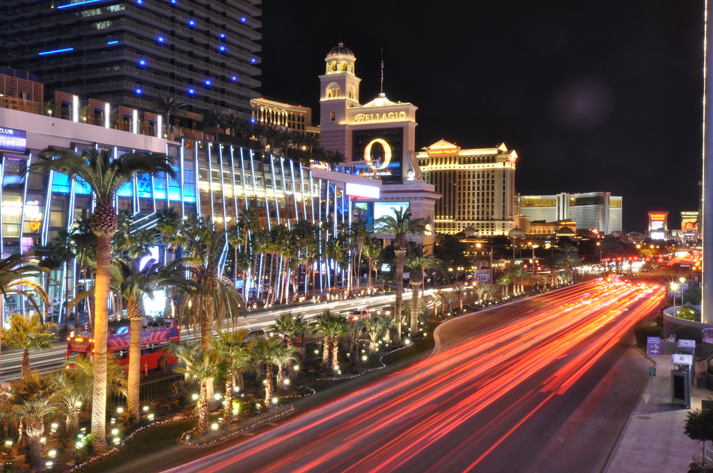 Las Vegas Strip at night. Image: Marcho Verch, CC. Las Vegas with kids.