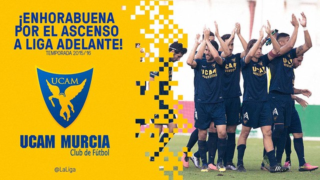 El UCAM Murcia C.F. asciende a la Liga Adelante