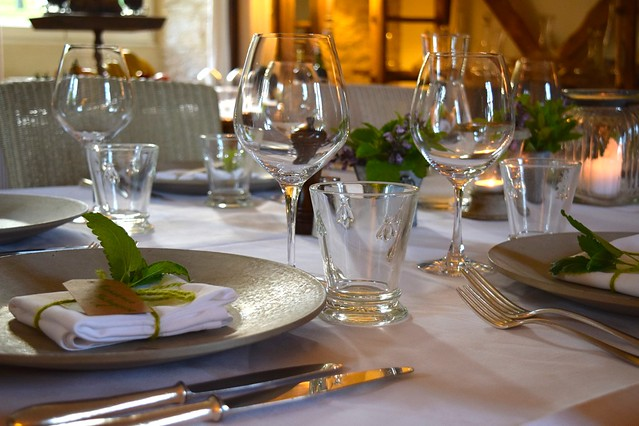 Table Setting at Manoir de Malagorse | www.rachelphipps.com @rachelphipps