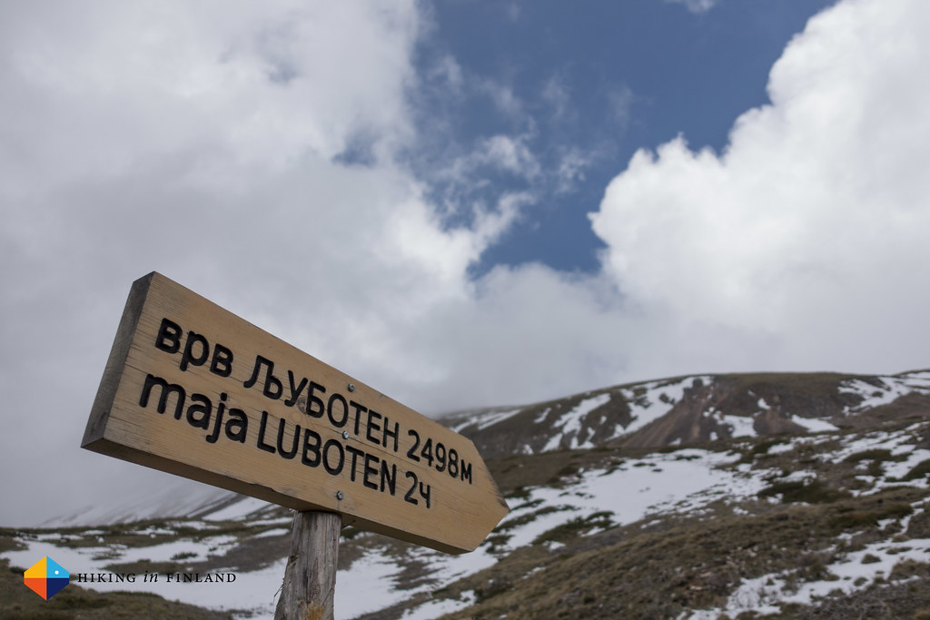 Ljuboten Summit Sign