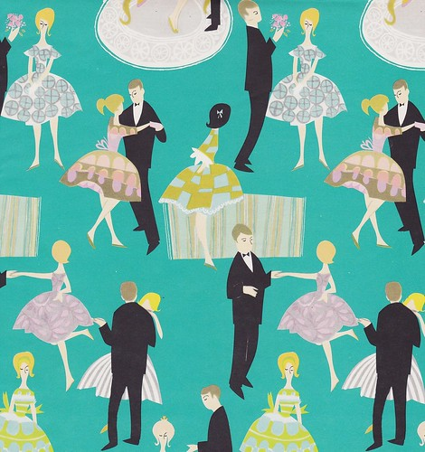 Vintage Gift Wrap Teen Dance | by hmdavid