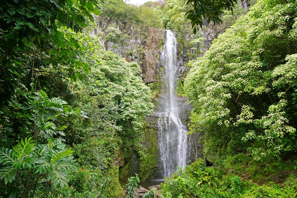 2012-02-10 02-19 Maui, Hawaii 190 Road to Hana, Three Bears Falls (Upper Waikani Falls)