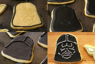 star wars cookies 2 vader | by crumblycookie