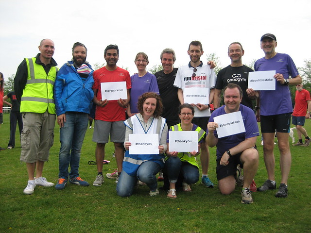 Little Stoke parkrun team