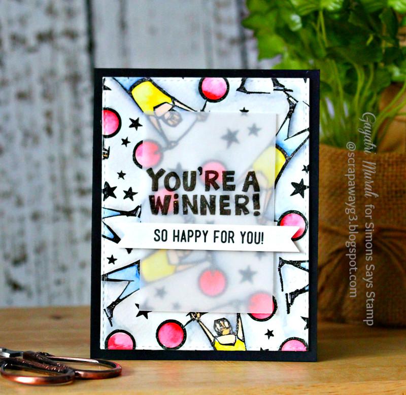 You're a winner card