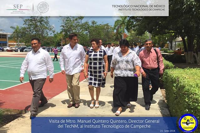 Visita del Mtro. Manuel Quintero Quintero al IT Campeche. Junio 21, 2016