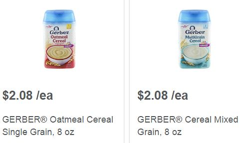 Gerber Dry Infant Cereals