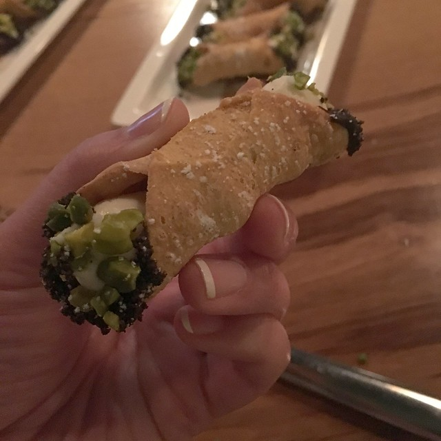 Pistachio Cannolis from Bar Boulud