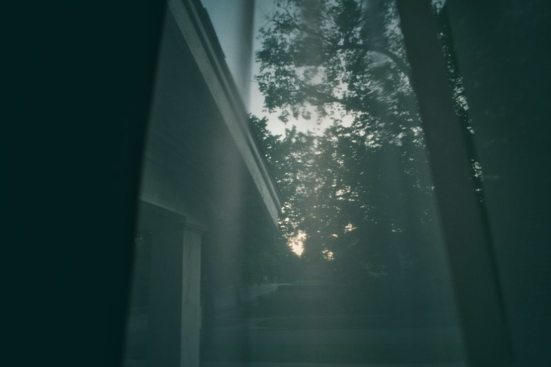 149. Out a window