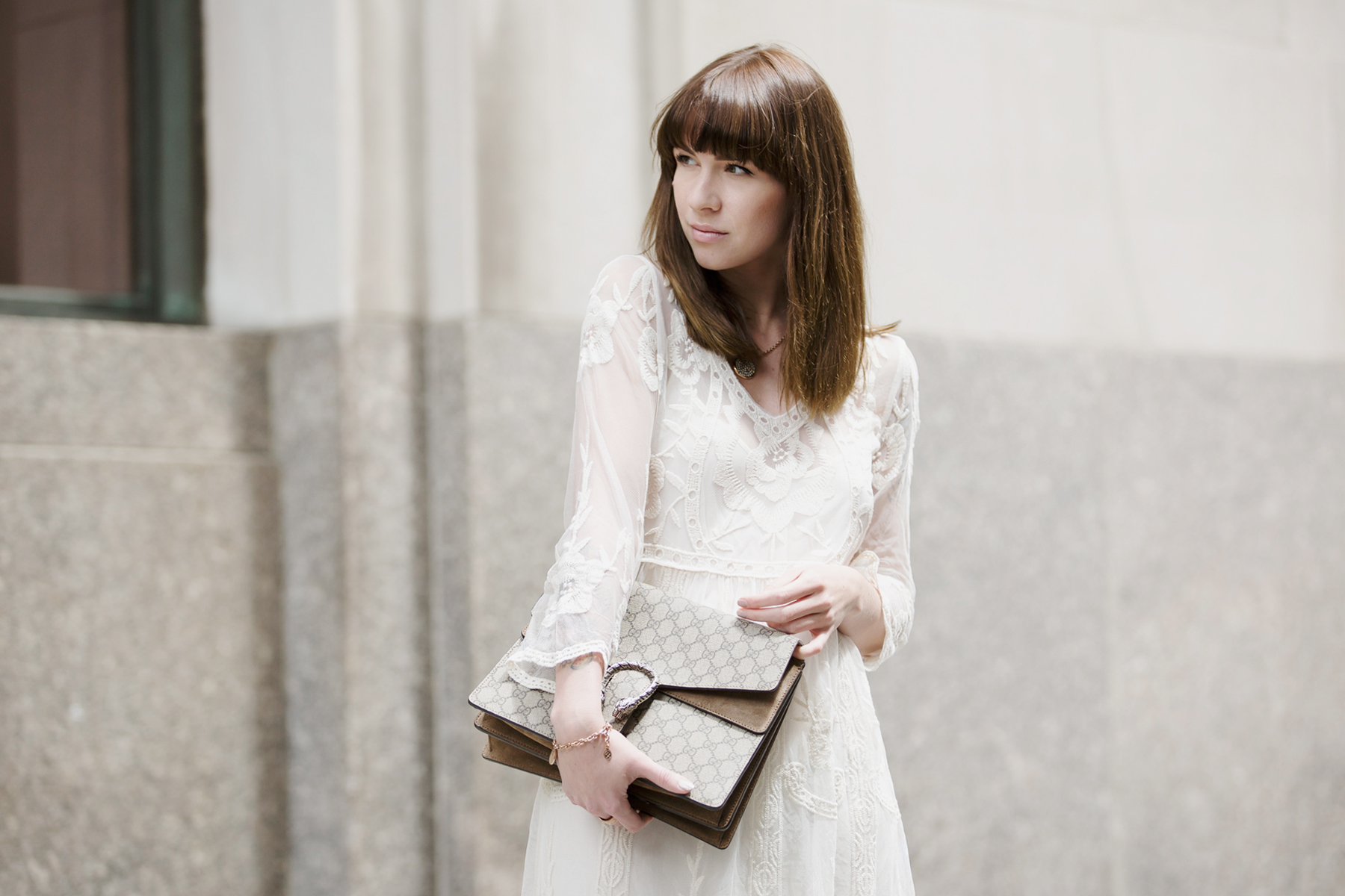 white dress edited the label editedgirls lace bride wedding style fashion fashionblogger new york style streetstyle look lookbook brunette bangs gucci dionysus sam edelman ootd ootn berlin blogger cats & dogs ricarda schernus 3
