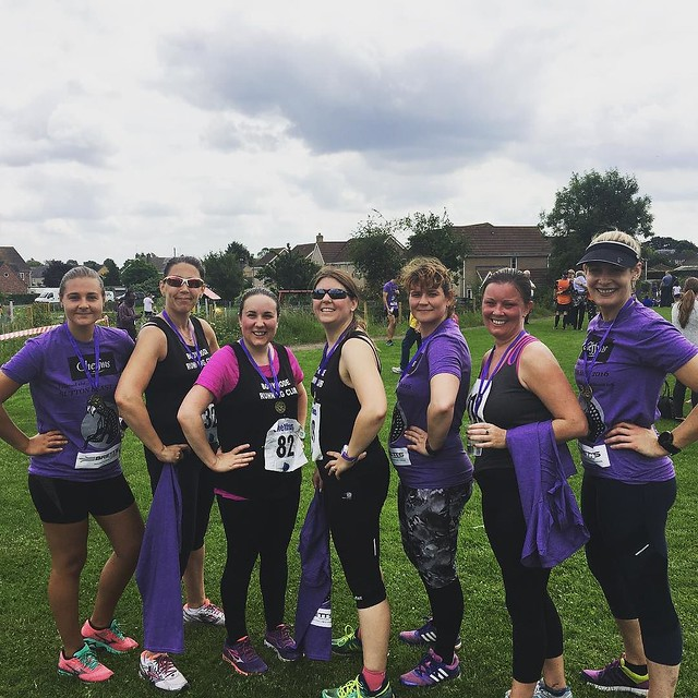 Really rough 10km yesterday, it all went a bit wrong between hyponatraemia & humidity. These are my awesome #teambrc chums who all ran excellent races despite tough terrain and humidity.