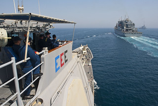 USS Cape St. George transits the Arabian Gulf. | by Official U.S. Navy Imagery