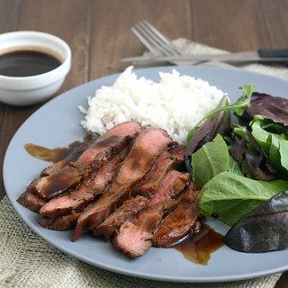 Bourbon and Brown Sugar Marinated Flank Steak | by Tracey's Culinary Adventures