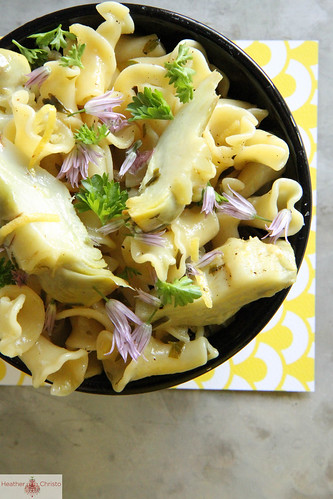 Artichoke Pasta with Butter, Lemon and Garlic | by Heather Christo