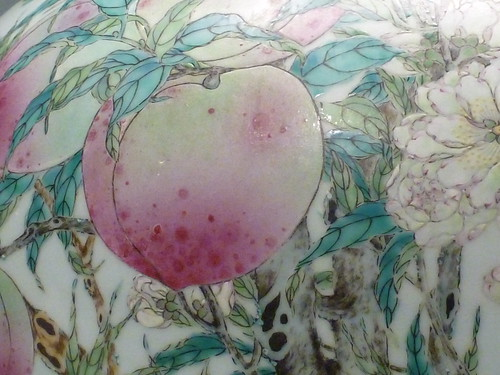 Vase  with peaches. 1736-1795. | by sftrajan