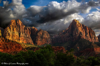 Approaching Storm - Sunset - Zion National Park - The Watchman | by Pillars of Creation Photography