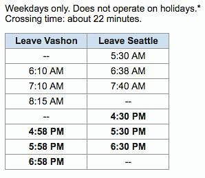 Water taxi schedule 6:10:16