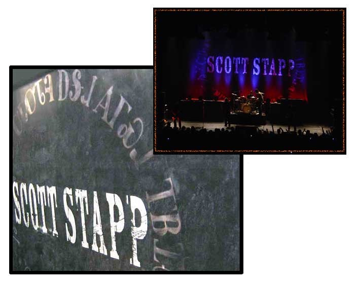 Hand Painted Scrim Drop for Scott Stapp Tour
