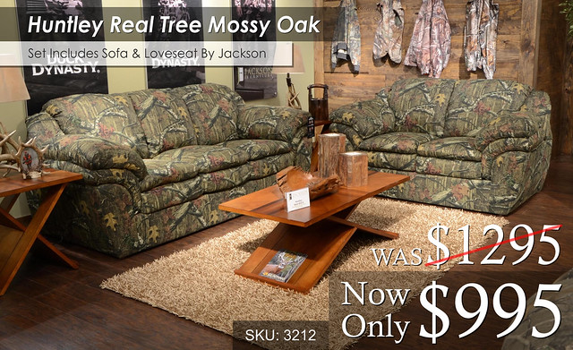 Huntley Real Tree Mossy Oak Living Set