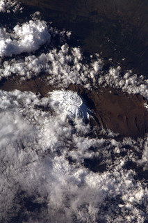 Mount Kilimanjaro, as seen from the ISS | by europeanspaceagency