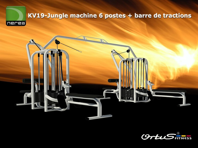 Jungle machines 6 postes + barre de tractions