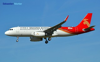 A.320-232 SHK SHENZHEN AIRLINES F-WWDH 7197 TO B-8413 27 06 16 TLS