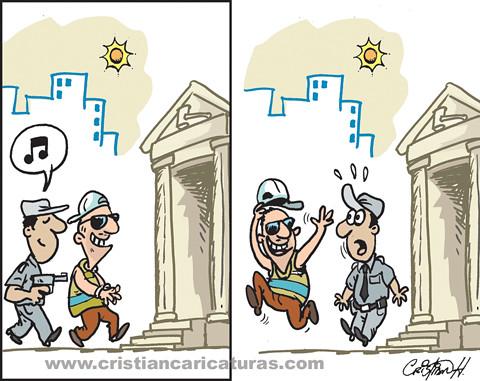 Caricatura de una vez