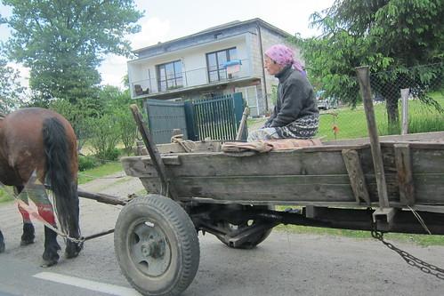 Nainen ja hevonen Puolassa