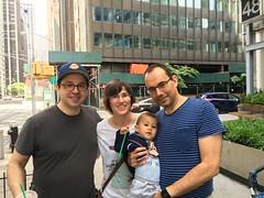 Fede con Sara, Carlos y su hijo Sergio de Alicante