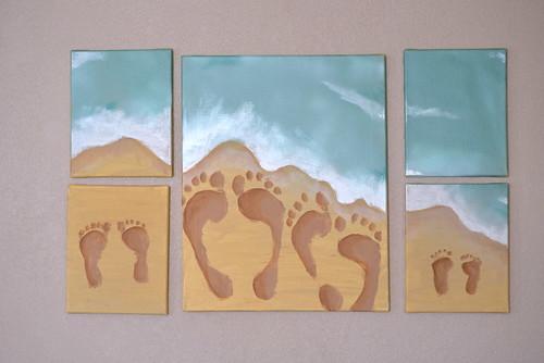 Iron Craft '16 Challenge #10 - Beach Footprints Painting