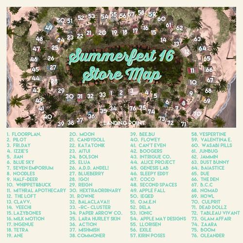 Summerfest '16 Store Map