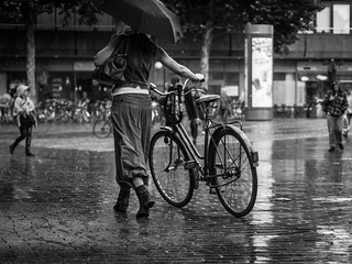 take a walk with your bike...in the rain // hamburg, germany | by pamela ross