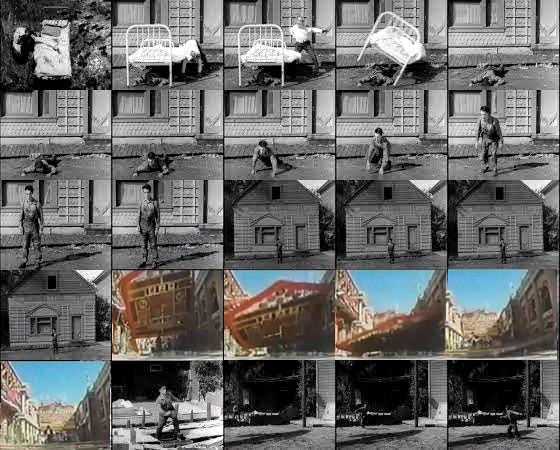 Jackie Chan's Buster Keaton homage