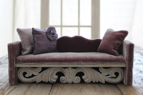 Soft Grape Velvet Sofa | by Abi Monroe