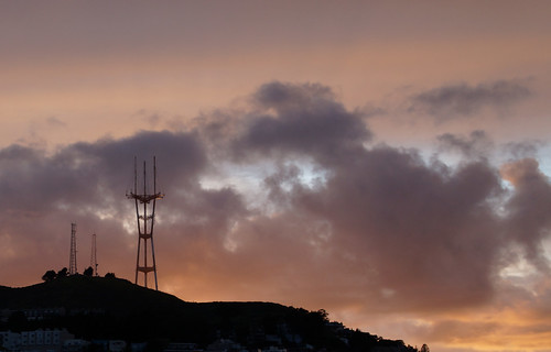 Reflected sunset: Sutro Tower | by trophygeek