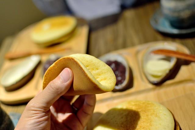 バターを挟んだうさパンケーキ