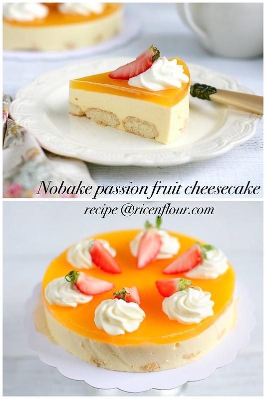 nobake passion fruit cheesecake recipe